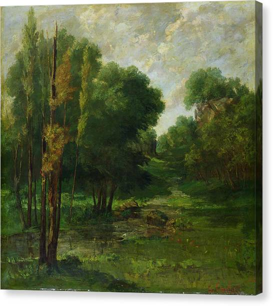 Outdoors Canvas Print - Forest Landscape by Gustave Courbet