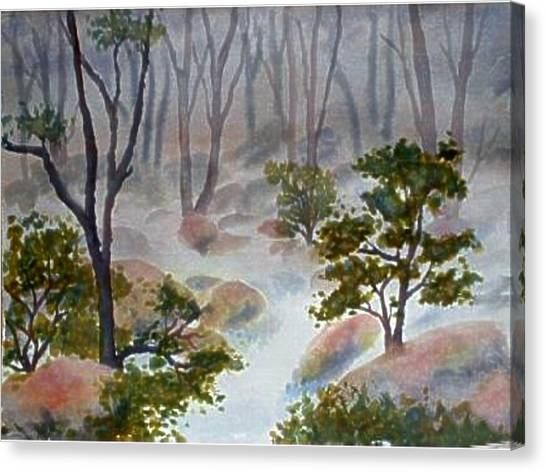 Forest Mist Canvas Print by Darla Brock