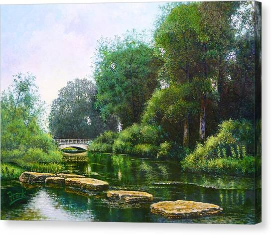 Forest Park Stepping Stones Canvas Print