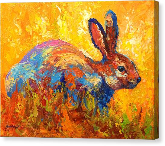 Rabbit Canvas Print - Forest Rabbit II by Marion Rose