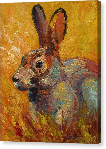 Wildlife Canvas Print - Forest Rabbit IIi by Marion Rose