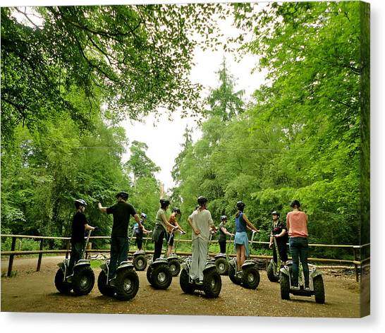 Forest Segway Canvas Print