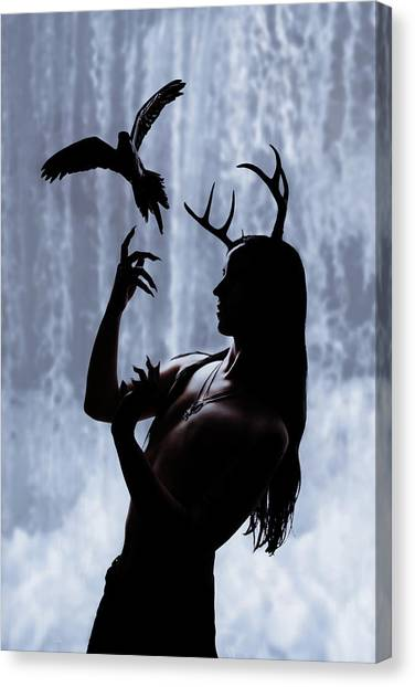 Forest Spirit Canvas Print by Cambion Art