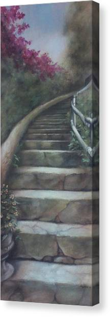 Forest Stairway Up  Canvas Print