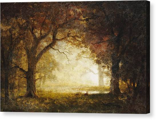 Wilderness Canvas Print - Forest Sunrise by Albert Bierstadt