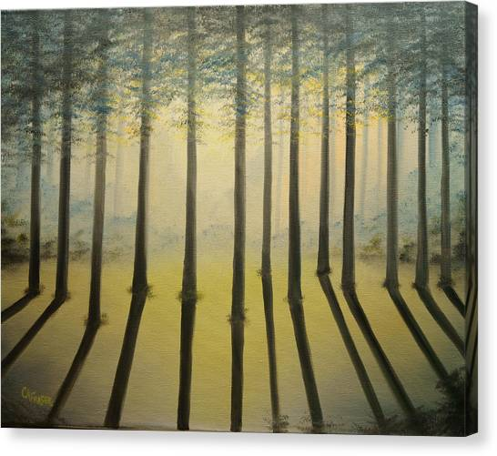 Forest Thru The Trees II Canvas Print