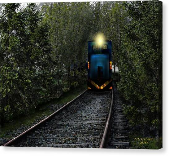 Forest Train Canvas Print