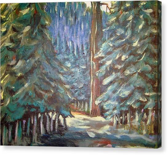 Forest Visit Canvas Print