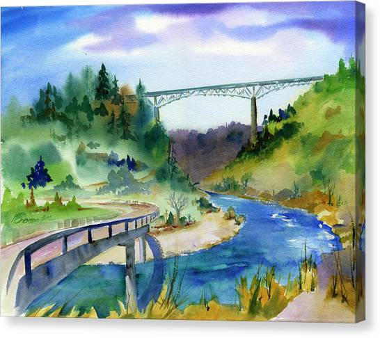 Foresthill Bridge #2 Canvas Print