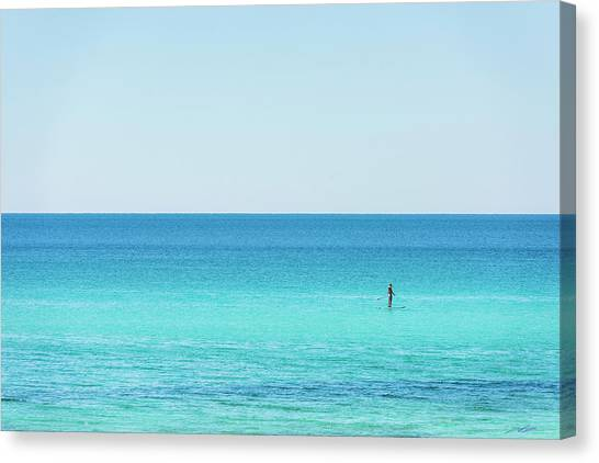 Forever Blue Gulf Paddle Canvas Print