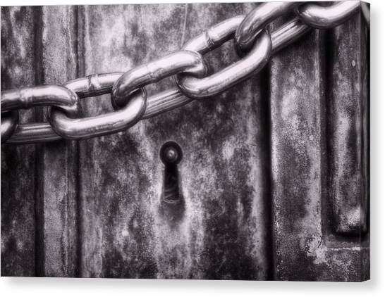 Lock Canvas Print - Forever Guarded by Tom Mc Nemar
