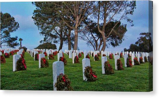Fort Rosecrans National Cemetery Canvas Print - Forever In Their Debt by David Thompson