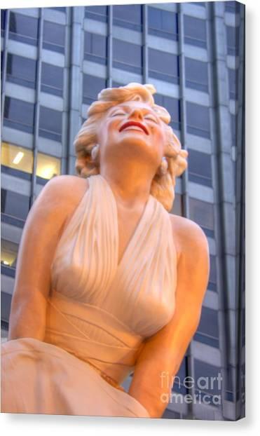 Joe Dimaggio Canvas Print - Forever Marilyn - 3 by David Bearden