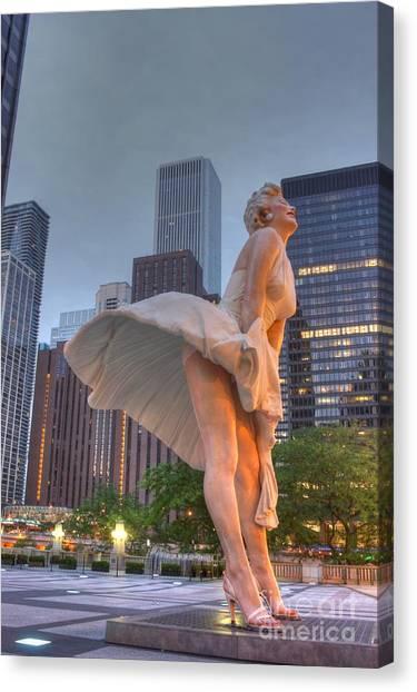 Joe Dimaggio Canvas Print - Forever Marilyn - 6 by David Bearden