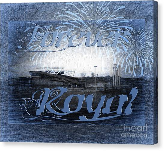 Kansas City Royals Canvas Print - Forever Royal by Andee Design