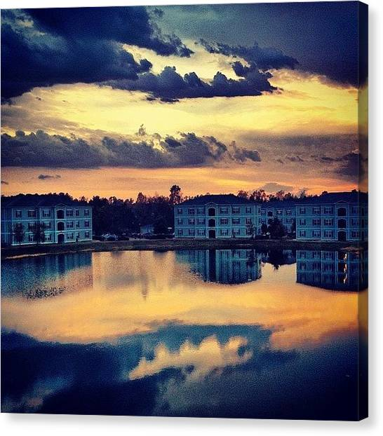 Sunset Canvas Print - Forever Taking #sunset Pics Off This by Katie Williams