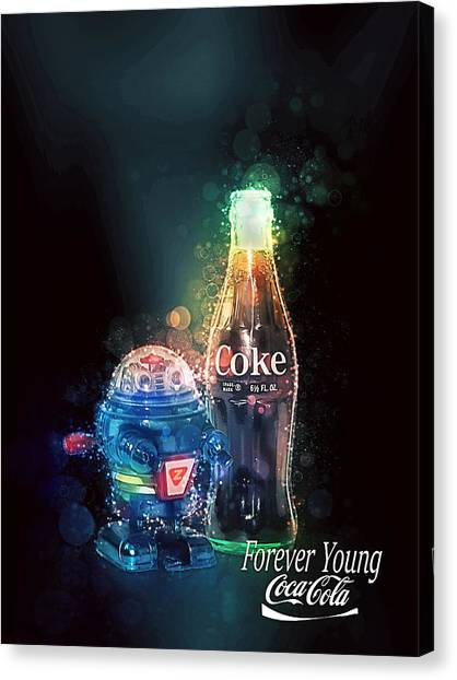 Forever Young Coca-cola Canvas Print