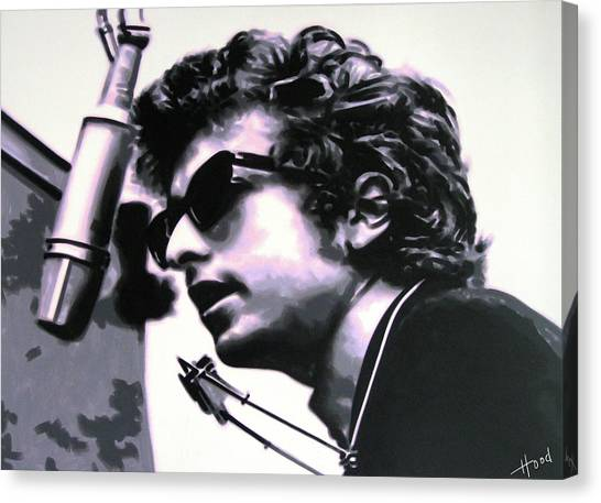 Bob Dylan Canvas Print - Forever Young by Hood alias Ludzska