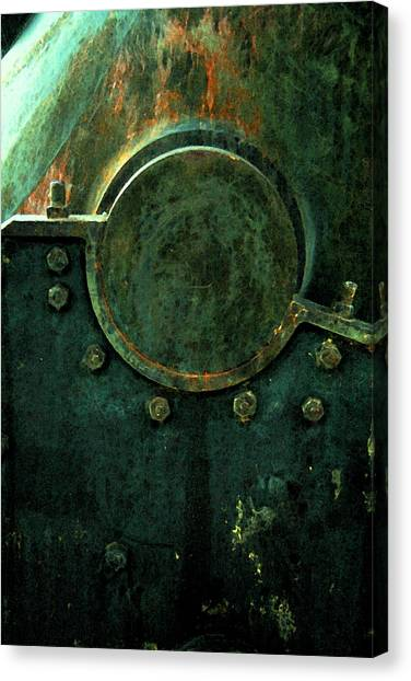 Forged In Green Canvas Print
