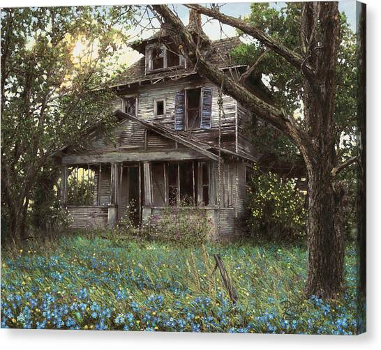 Abandoned House Canvas Print - Forget-me-not by Doug Kreuger