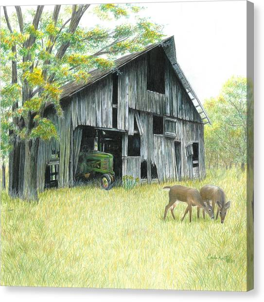 John Deere Canvas Print - Forgotten by Carla Kurt