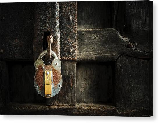 Forgotten Lock Canvas Print