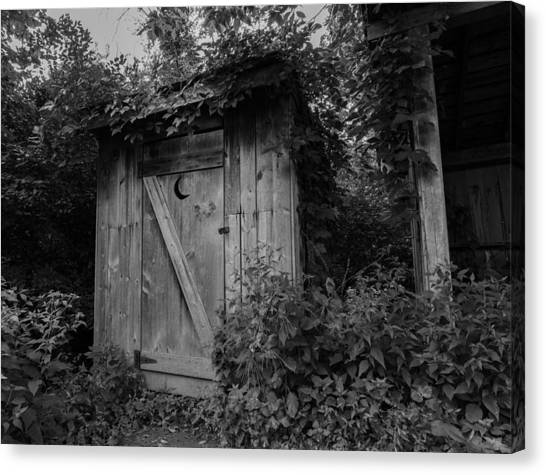 Forgotten Outhouse Canvas Print by Denise McKay