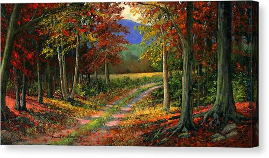 Painters Canvas Print - Forgotten Road by Frank Wilson