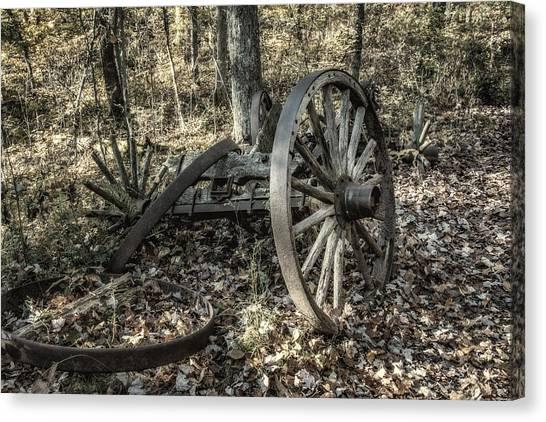 Carts Canvas Print - Forgotten Wagon by Tom Mc Nemar