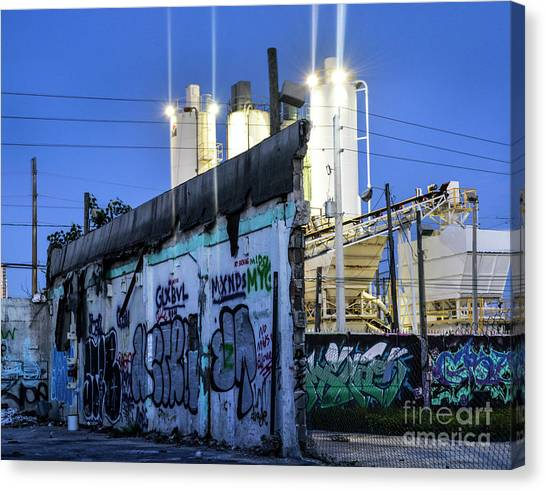 Graffiti Walls Canvas Print - Forgotten Wynwood by Ksenia VanderHoff
