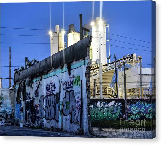 Graffiti Walls Canvas Print - Forgotten Wynwood by Ksenia VanderHoff