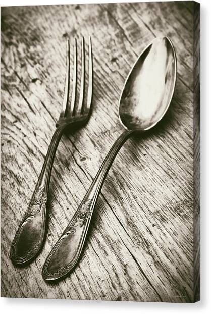 Fork And Spoon Canvas Print
