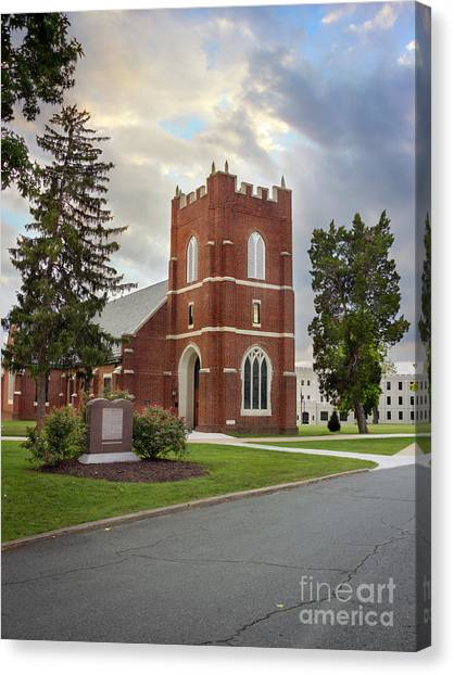 Fork Union Military Academy Wicker Chapel Sized For Blanket Canvas Print