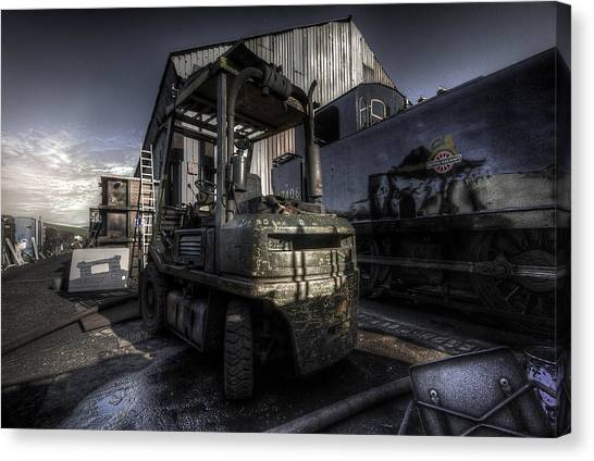 Forklifts Canvas Print - Forklift by Yhun Suarez