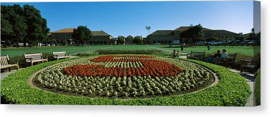 Stanford University Canvas Print - Formal Garden At The University Campus by Panoramic Images