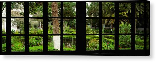 Cotopaxi Canvas Print - Formal Garden Viewed Through A Window by Panoramic Images