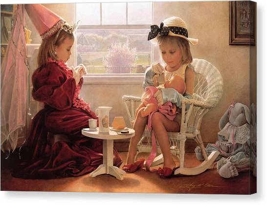 Childrens Room Canvas Print - Formal Luncheon by Greg Olsen