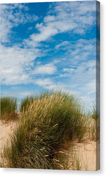 Formby Sand Dunes And Sky Canvas Print