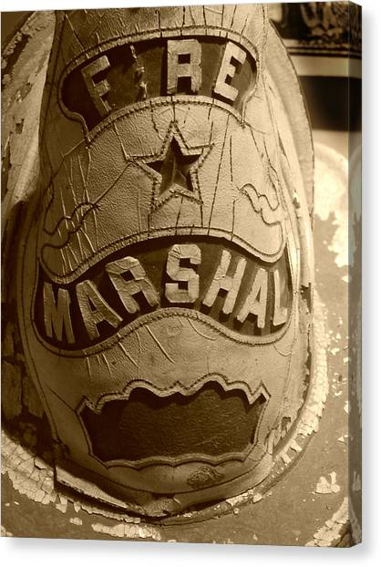 Former Fire Marshal Hat Canvas Print