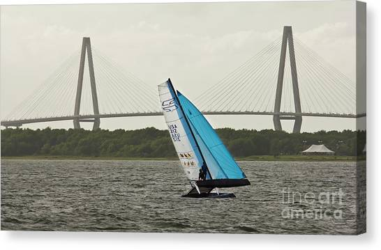 Catamarans Canvas Print - Formula 18 Sailing Cat Big Booty Charleston Sc by Dustin K Ryan