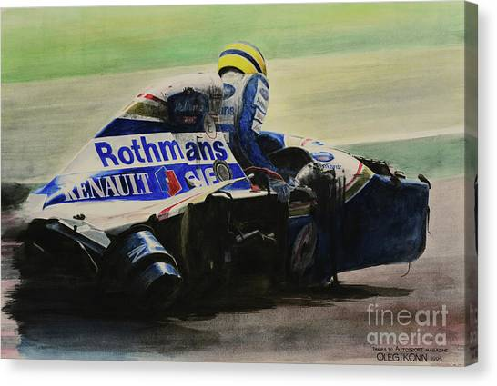Formula Car Canvas Print - Formula Alone by Oleg Konin