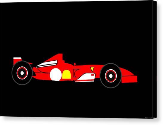 Formula One Ferrari Canvas Print by Asbjorn Lonvig
