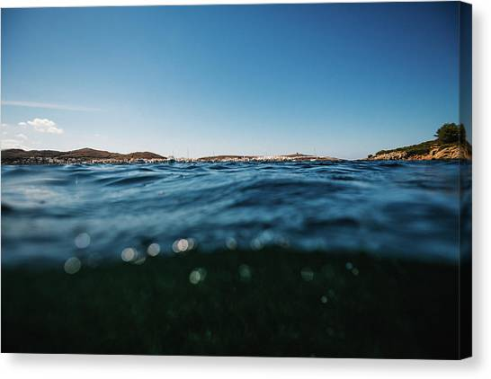 Fornells Bay Canvas Print