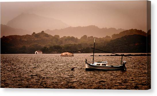 Fornells Bay In Menorca Island - Even Most Beautiful Places Have Secrets To Hide By Pedro Cardona Canvas Print