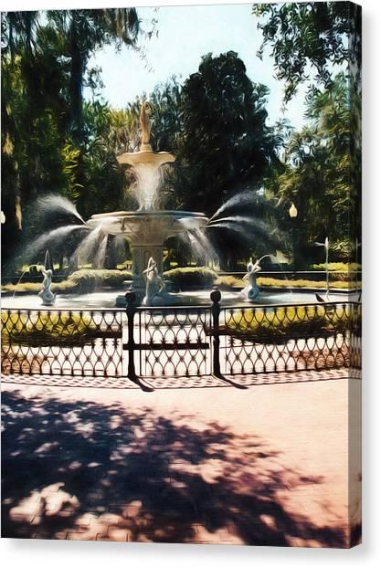 Forsyth Park Fountain - Savannah - Ga Canvas Print