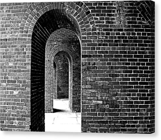 Fort Arches In Black And White Canvas Print