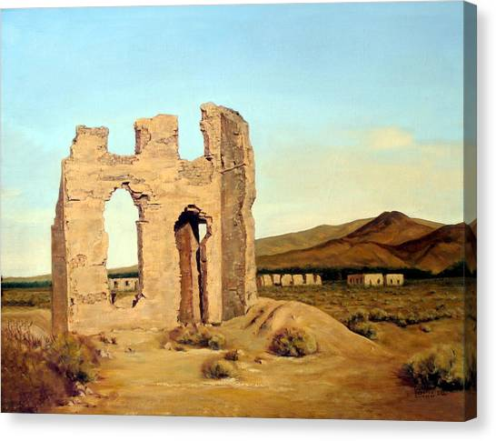 Fort Churchill Nevada Canvas Print by Evelyne Boynton Grierson