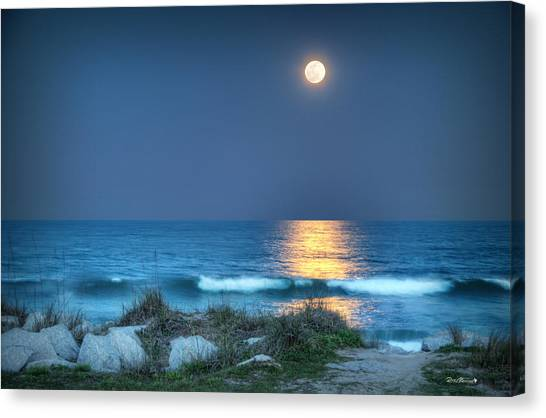 Fort Fisher Moonbeam Canvas Print