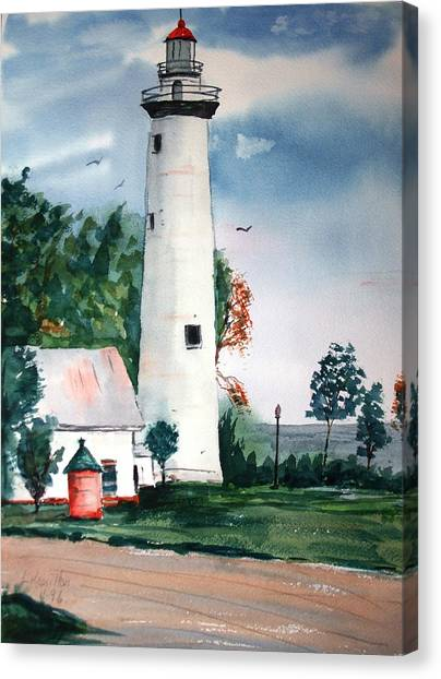 Fort Gratiot Lighthouse Michigan Canvas Print