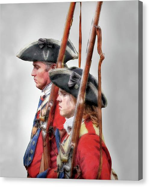 Fort Ligonier Soldiers Canvas Print by Randy Steele